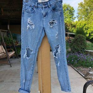 Brandy Melville distressed mom jeans